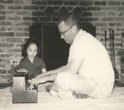 Robin and Dad in 1958