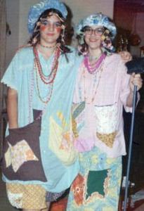 Lori and Linda in costume