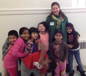 Alison Formento with kids