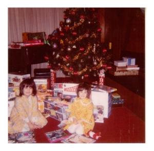 Felicia Chernesky--Felicia and Stephanie, Christmas 1971[2]
